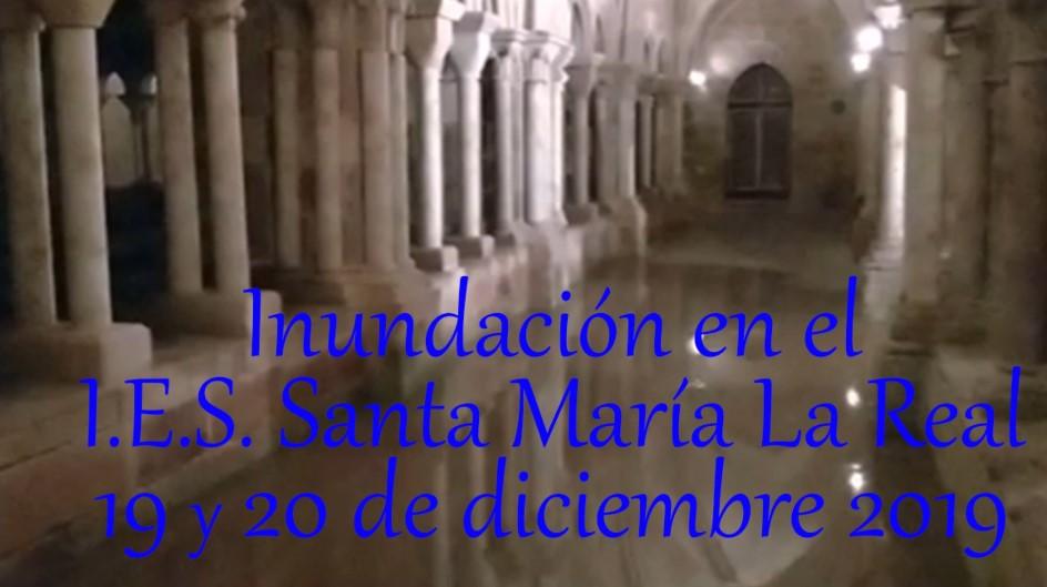 Inundación en el IES Santa María La Real
