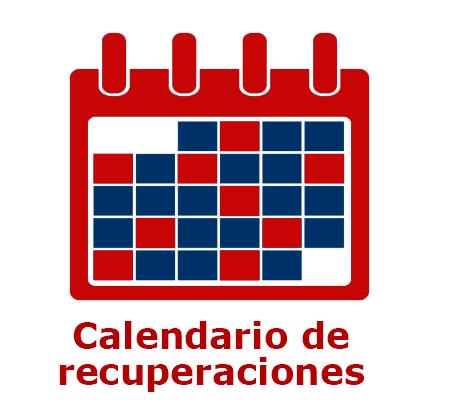 Calendario de recuperaciones