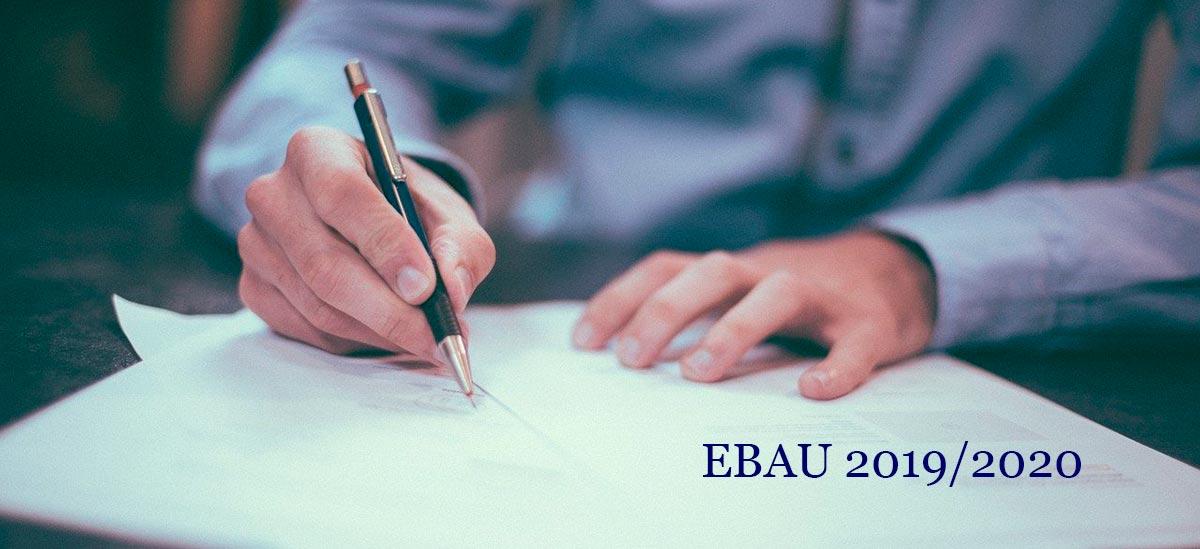 EBAU 2019/2020